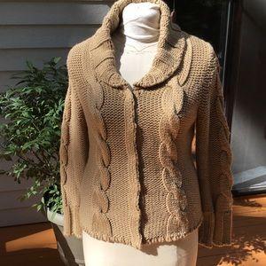 Women's sweater Carmel color size large